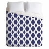 Daffy Lattice Navy Luxe Duvet Cover