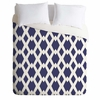 Daffy Lattice Navy Lightweight Duvet Cover