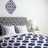 Daffy Lattice Navy Duvet Cover