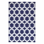 Daffy Lattice Navy Flat Weave Rug