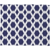 Daffy Lattice Navy Fleece Throw Blanket