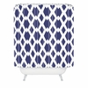 Daffy Lattice Navy Shower Curtain