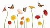 Daisies & Butterflies Easy-Stick Wall Art Sticker