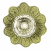 Daisy Crystal Knob with Green Base