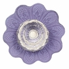 Daisy Crystal Knob with Lavender Base