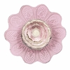 Daisy Crystal Knob with Pink Base