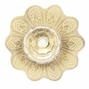 Daisy Crystal Knob with Yellow Base
