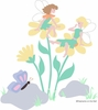 Daisy Fairies Paint by Number Wall Mural