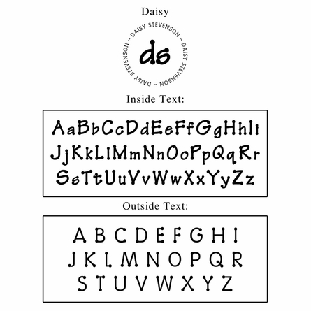 Daisy Personalized Self-Inking Stamp