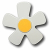 Daisy White with Bright Yellow Center Drawer Pull