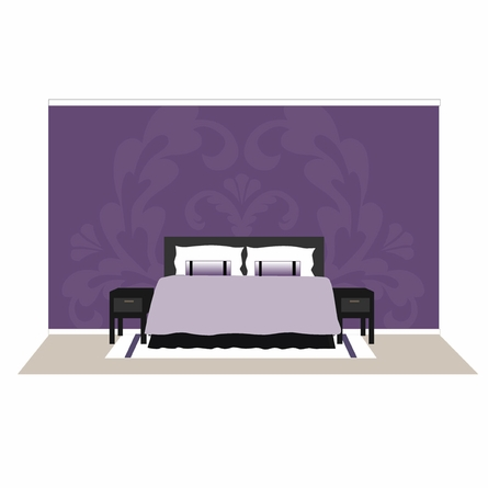 Damask One Paint by Number Wall Mural