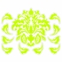 Damask Pattern in Green Wall Sticker