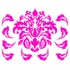 Damask Pattern in Pink Wall Sticker