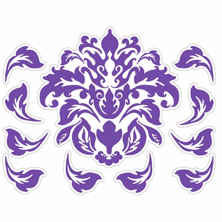 Damask Pattern in Purple Wall Sticker
