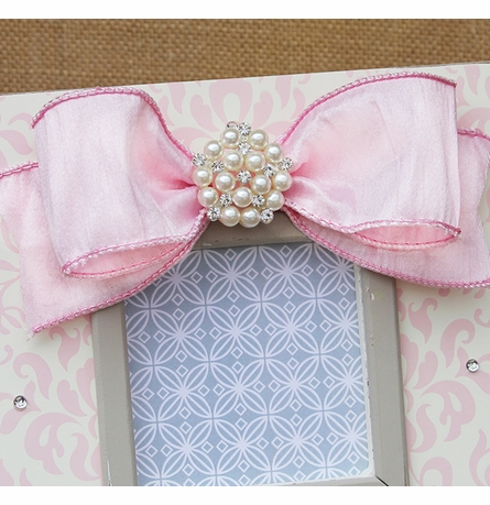 Damask Shine Embellished Picture Frame
