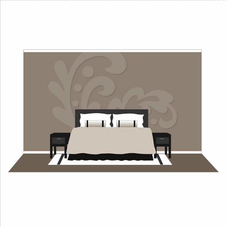 Damask Two Paint by Number Wall Mural