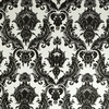 Damsel White and Black Removable Wallpaper