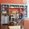 Dana Above Desk Narrow Wall Storage Unit with Doors