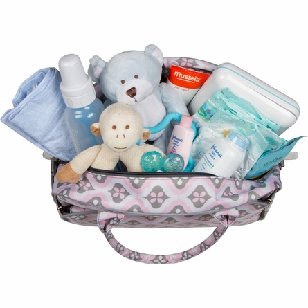 Dana Daytripper Diaper Bag in Sweet Blush Montage