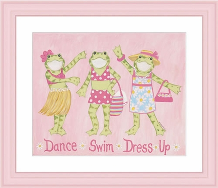Dance Swim Dress and Up Framed Lithograph
