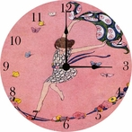 Dancing Girl Wall Clock