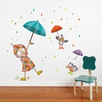 Dancing in the Rain Wall Decal