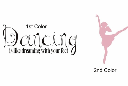 Dancing is Dreaming Wall Decal