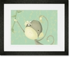 Dangle Monkey Framed Art Print