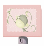 Dangle Monkey Powder Pink Night Light