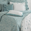 Darby White and Teal Pillow Sham