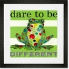 Dare to be Different- Frog Framed Art Print