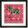 Dare to Be Different - Zebra Framed Art Print