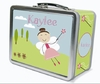 Dark Brown Hair Fairy Personalized Lunch Box