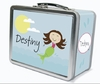 Dark Brown Hair Mermaid Personalized Lunch Box