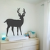 Dark Gray Deer Wall Decal