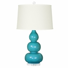 Dark Turquoise Hutton Lamp Base