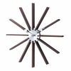 Dark Wooden Slat Wall Clock