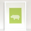 Darted Hippo Art Print