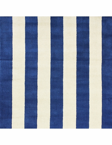 Dasher Striped Rug in Blue