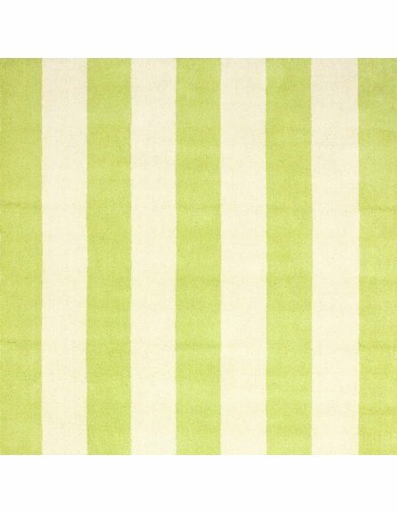 Dasher Striped Rug in Green