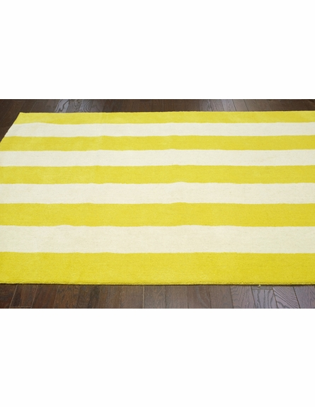 Dasher Striped Rug in Lemon