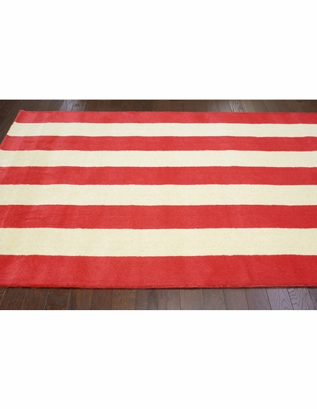 Dasher Striped Rug in Red