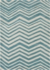 Davin Chevron Rug in Light Blue