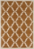 Davin Elegant Lattice Rug in Amber