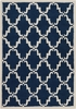 Davin Elegant Lattice Rug in Cobalt