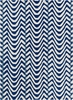Davin Waves Rug in Blue