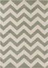 Davin Wide Chevron Rug in Gray