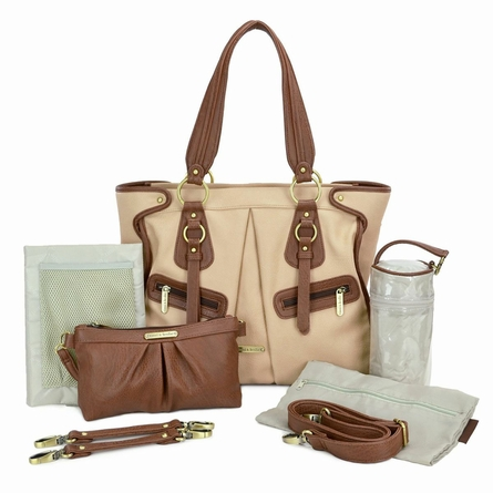 Dawn Diaper Bag - Sand and Cinnamon