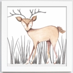 Dawson Deer Framed Canvas Reproduction