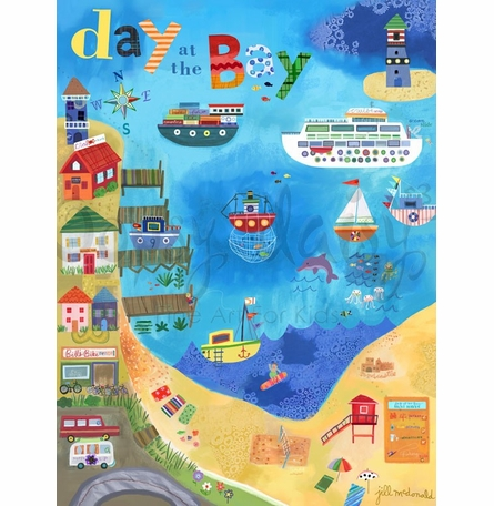 Day at the Bay Poster Wall Decal